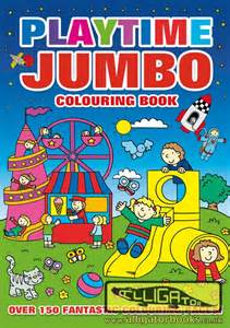jumbo colouring books alligator books