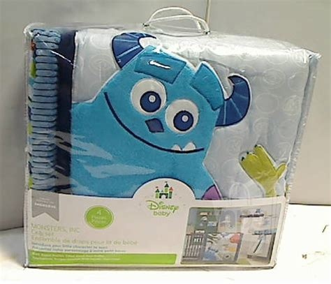 4 Piece Disney Baby 25953 Monsters Inc Crib Bedding Set Monsters Inc Crib Bedding Set