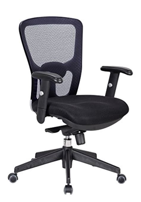 ergonomic office chair with adjustable lumbar support office factor ergonomic executive managers black mesh