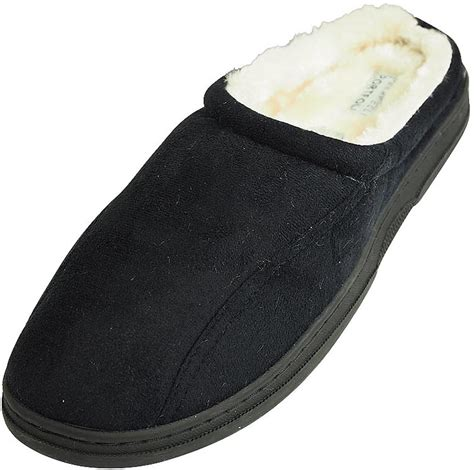 weatherproof slippers perry ellis portfolio mens microsuede clog slide slip on