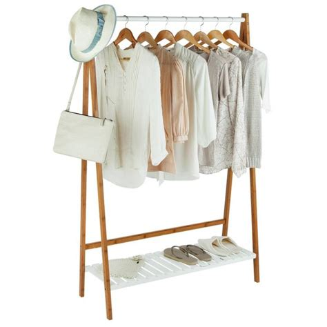 Argos Tie Rack by Buy Collection Belvoir Bamboo Clothes Rail With White