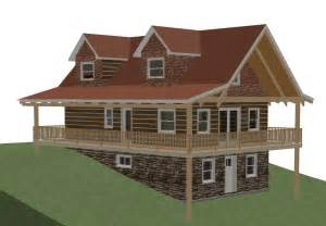 log cabin floor plans with basement log home plans with walkout basement log home plans with