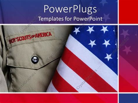 boy scout powerpoint template powerpoint template an american boy scouts along
