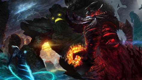 wallpaper background dota 2 razor shadow fiend razor vs tiny dota 2 wallpapers