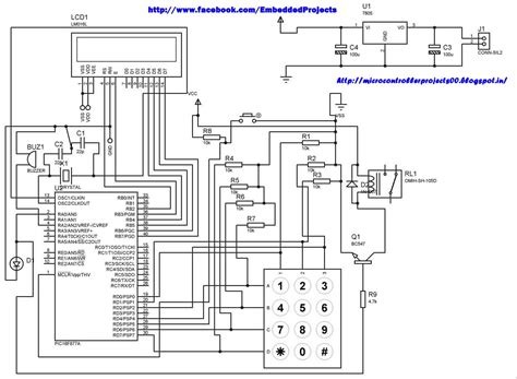 microcontroller based projects with circuit diagram pic microcontroller based electronic lock