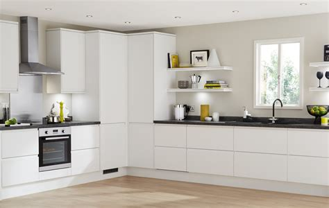 kitchen design howdens clerkenwell matt white contemporary kitchen from howdens