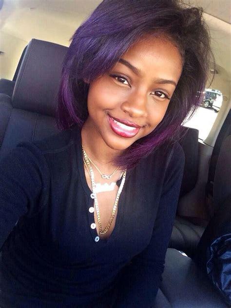purple hair black top 13 cute purple hairstyles for black girls this season
