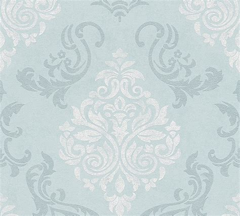 as creation tapeten tapete vlies ornamente glitzer blau as creation 95372 5