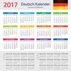 Kalender 2018 Indonesia Xls German Calendar 2017 Kalender 2017 Stock Vector