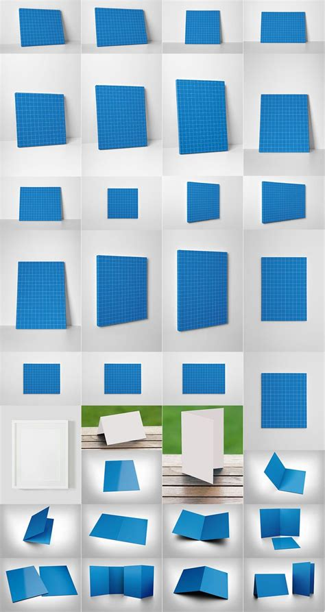 pinterest layout psd psd canvas greeting card and photo frame mockup templates