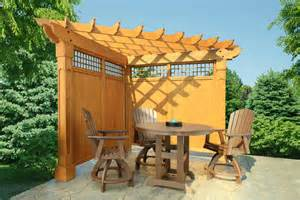 Pergola With Walls by Cedar Outdoor Furniture Everything For Outdoor Living In