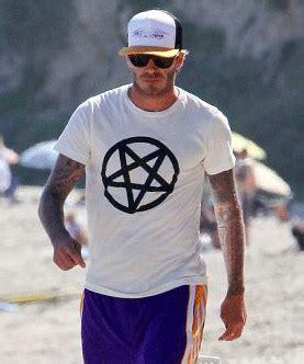 david beckham illuminati david beckham wearing satanic pentagram evilindustry