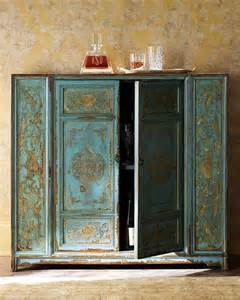 Hand Painted Cabinets Hand Painted Wood Cabinet Horchow Furniture Painted