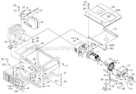 coleman powermate 5000 parts diagram powermate pm0475003 parts list and diagram
