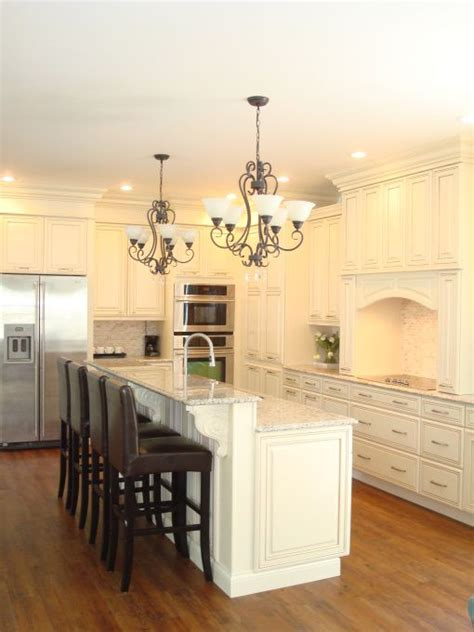 Two Level Kitchen Island Designs Two Level Island I Would Use Different Chairs Though Kitchens Pinterest The Two Stove