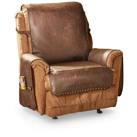 chair cover for recliner faux leather recliner cover 666210 furniture covers at