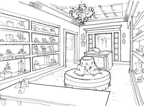 sketchbook shop sketches shoe store sketch coloring page
