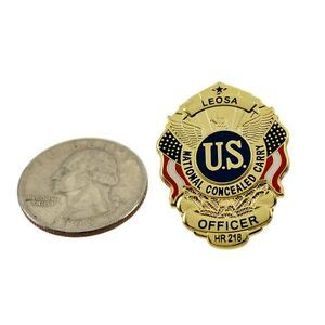 LEOSA Police Officer HR218 Mini Badge Lapel Pin Concealed ... Leosa Police