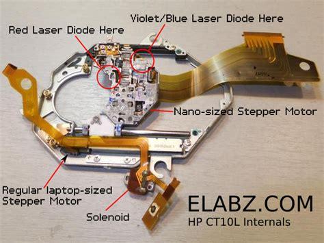 dvd writer laser diode power teardown hp ct10l bd rom dvd rewriter