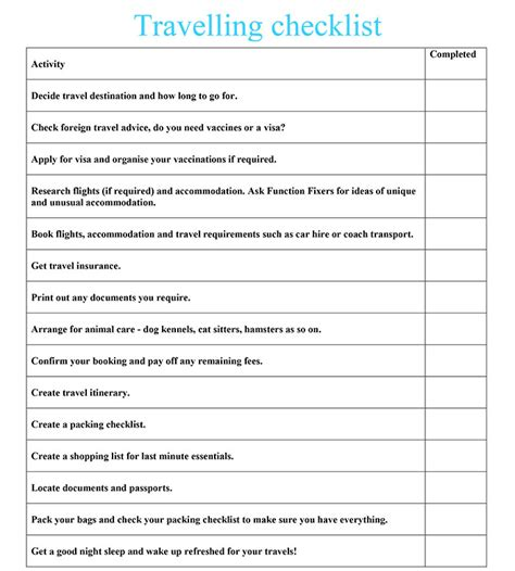 Asian Wedding Checklist Uk by Travelling Checklist Function Fixers