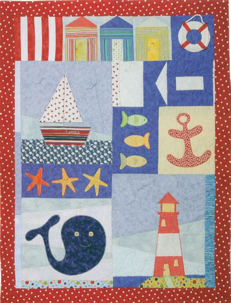 Patchwork And Applique - patchwork and applique child nautical quilt kit with pattern
