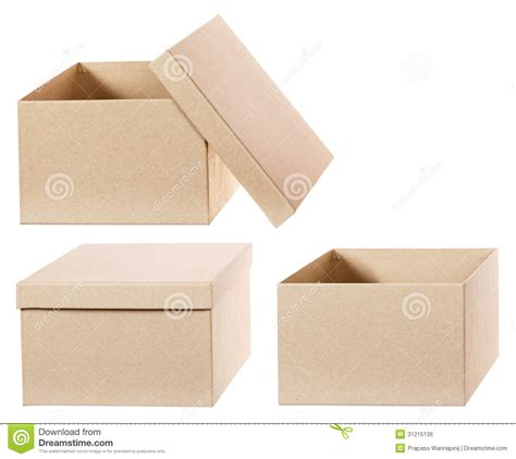 square cardboard box stock images image 29889354 square brown solid cardboard box isolated royalty free