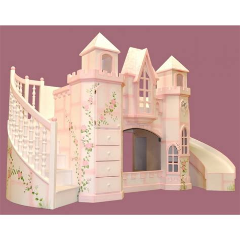 Castle Bunk Bed With Slide Amazing Bedroom Decorating Designs With Great Castle Bunk Princess Bed Added Stairs And