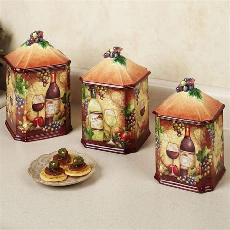 grape canister sets kitchen tropical kitchen table sets home wine map canister set