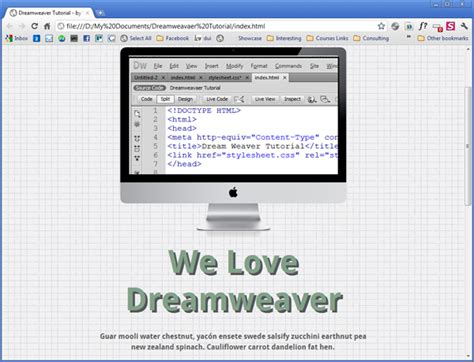 tutorial css clearfix dream weaver tutorial part 2 css web courses bangkok
