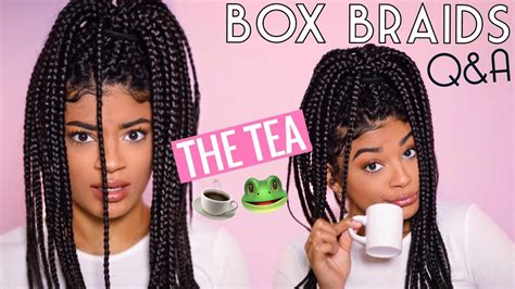 with box braids is it okay to leave hair up in bun style the tea on box braids frequently asked questions