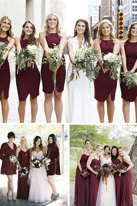 Best 25  Wine bridesmaid dresses ideas on Pinterest   Wine