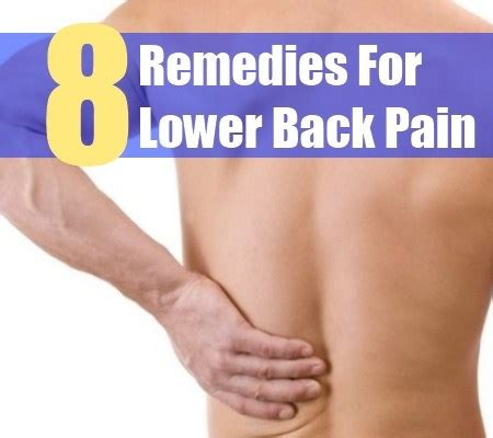 8 valuable home remedies for lower back