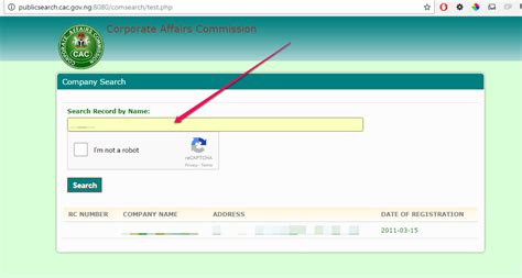 Address By Name Search Cac Search Website Lets You Check If Company Or Business Name Has Been