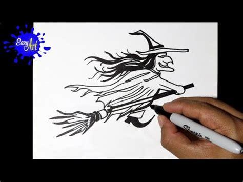 imagenes de brujas faciles para dibujar como dibujar una bruja halloween how to draw a witch