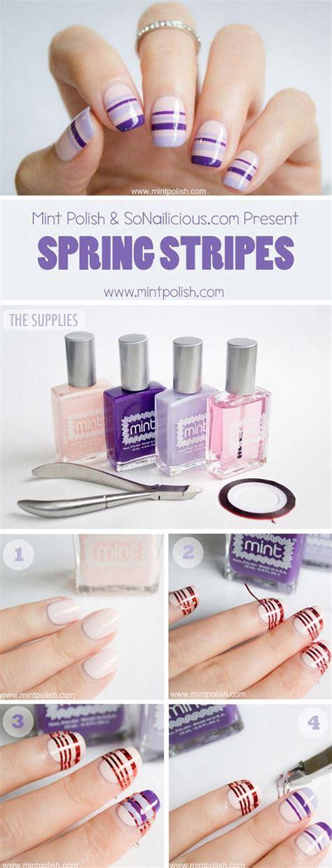 nail art tape strips tutorial sonailicious x mint polish 3 nail art tutorials