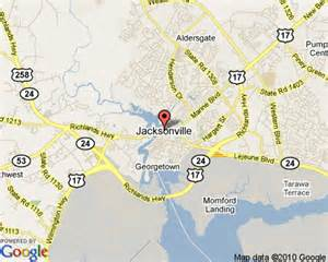 map of jacksonville carolina jacksonville carolina