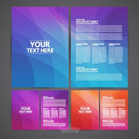 template brochure illustrator brochures template free vector in adobe illustrator ai