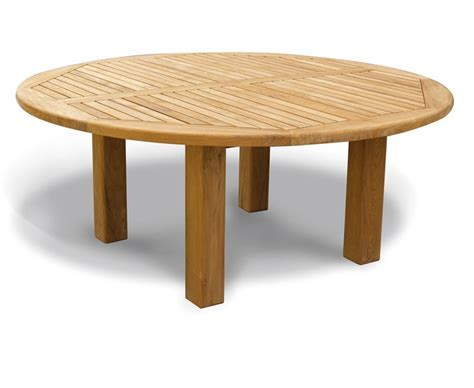 titan new teak garden circular dining table 1 8m