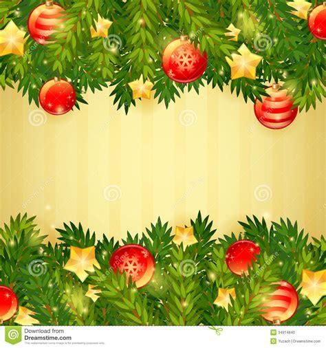 christmas tree stars and festive balls card stock