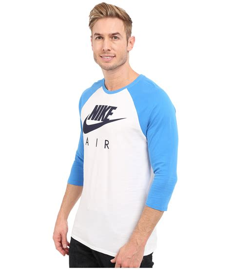 Raglan Nike Air Harmony Merch nike air 3 4 raglan in blue for lyst