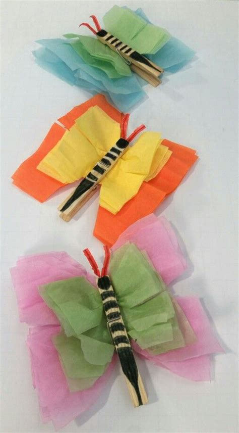 Tissue Paper Butterfly Craft - tissue paper butterfly crafts and crafts on