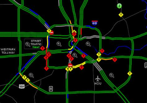 houston transtar map most roads are open but still treacherous newswatch