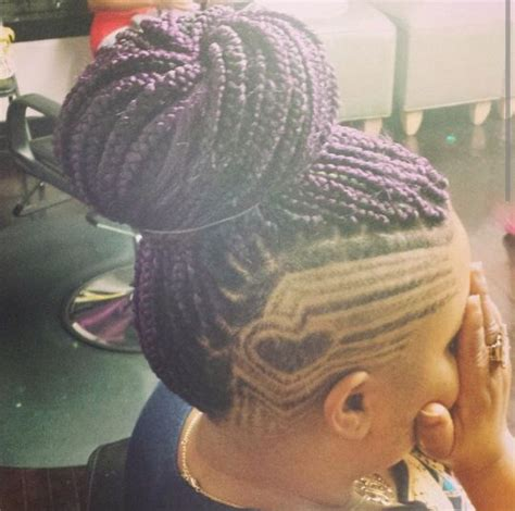 shaved mohawk braids purple box braid mohawk wild about hair pinterest