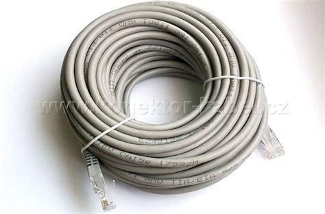 Kabel Lan 15 M Terpasag Konektor Rj45 Cable Utp 15m utp cat 5e rj 45 patch př 237 m 253 15 m šed 253 ethernet lan konektor kabel cz