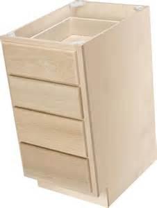 One 15 quot x 34 1 2 quot unfinished premium oak 4 drawer base cabinet