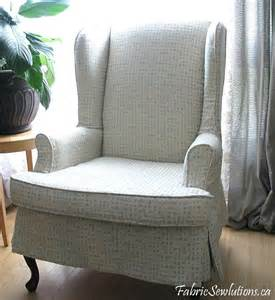 Skirted Chairs Sewlutions World Wingback Chair Slipcover