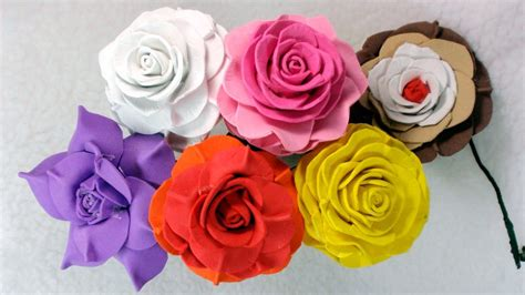 imagenes flores de goma eva rosas de goma eva