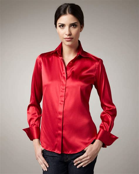 Silk Blouse by Satin Blouses Satin Blouses Galleries