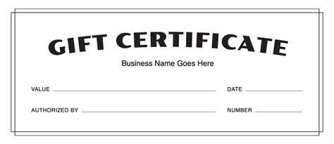 gift card template docs blank doc pdf printable gift certificates templates