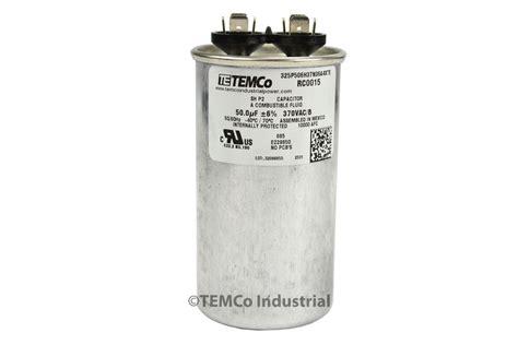 capacitor c61 p2 370 vac temco 50 mfd uf run capacitor 370 vac volts ac motor hvac 50 uf ebay